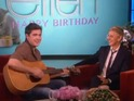 That Awkward Moment actor offers tongue-in-cheek tribute to Ellen DeGeneres.
