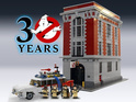 The 30th-anniversary set features a model of the Ecto-1 and four mini-figures.