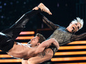 Pink gives impressive acrobatic performance at the Grammy Awards.