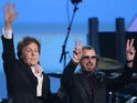Ringo Starr says Paul McCartney is nearly ready to resume tour after ill health.