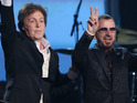 Ex-Beatles collect prestigious Lifetime Achievement Award and perform new song.