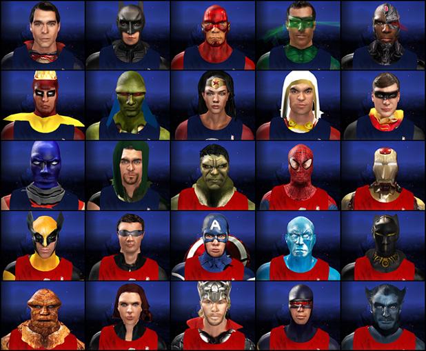 NBA 2K14 Marvel vs DC mod