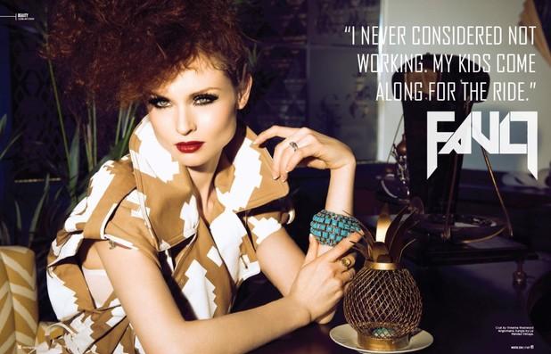 Sophie Ellis-Bextor in Fault magazine