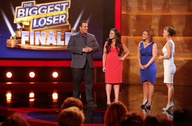 Dolvett Quince, Jillian Michaels, Bob Harper and Alison Sweeney on The Biggest Loser S15E15: 'Live Finale'