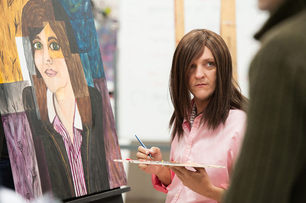 Chris Lilley in episode 1 of Ja'mie: Private School Girl