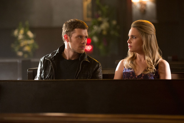 Joseph Morgan as Klaus and Leah Pipes as Cami in The Originals: 'Crescent City'