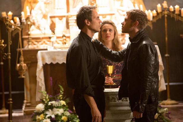 Todd Stashwick as Kieran, Leah Pipes as Cami, and Joseph Morgan as Klaus in The Originals: 'Crescent City'