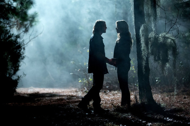 Chase Coleman as Oliver and Claire Holt as Rebekah in The Originals: 'Crescent City'