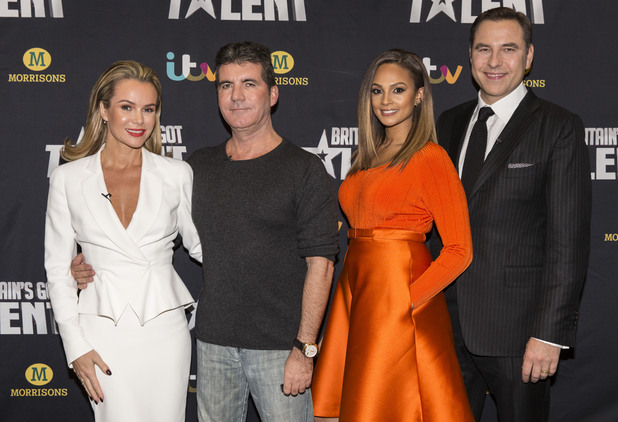 'Britain's Got Talent' TV show auditions, Birmingham, Britain - 02 Feb 2014 Amanda Holden, Simon Cowell, Alesha Dixon and David Walliams