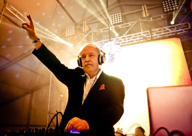 Giorgio Moroder LOS ANGELES, CA - NOVEMBER 03: Giorgio Moroder performs at HARD Day Of The Dead - Day 2 at Los Angeles Historical Park on November 3, 2013 in Los Angeles, California. (Photo by Gabriel Olsen/FilmMagic)