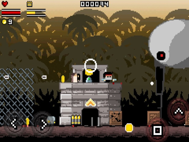 Screenshot of 2D shooter Gunslugs