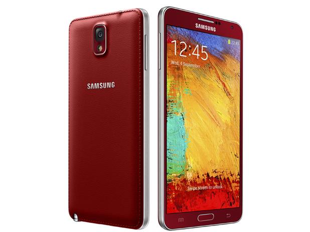 Samsung Galaxy Note 3 in Merlot Red