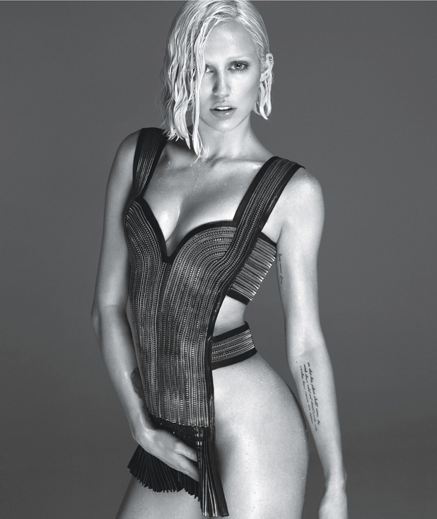 Miley Cyrus poses in W Magazine