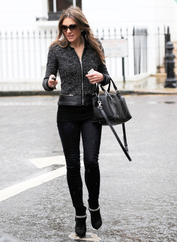 Elizabeth Hurley out and about in London, Britain - 06 Feb 2014 Elizabeth Hurley 6 Feb 2014