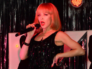 Kylie Minogue plays a surprise gig in The Old Blue Last in Shoreditch, London