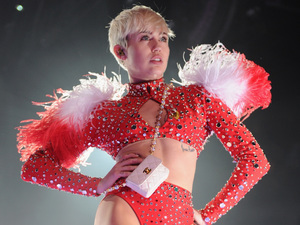 "Miley Cyrus opens her ""Bangerz Tour"""