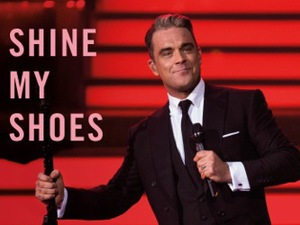 Robbie Williams 'Shine My Shoes' artwork.