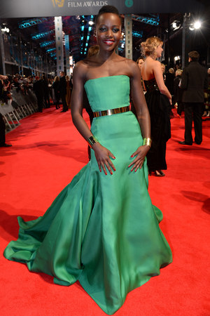 Lupita Nyong'o, BAFTA 2014, Red Carpet