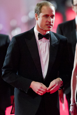 Prince William arriving at The EE British Academy Film Awards