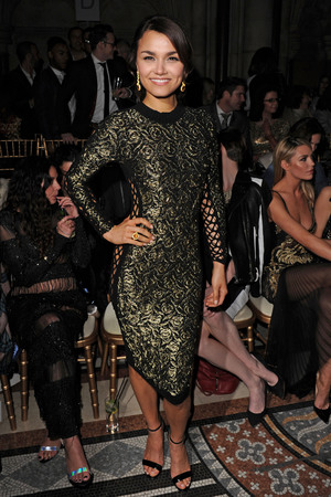 Samantha Barks Julien MacDonald show, Autumn Winter 2014, London Fashion Week,