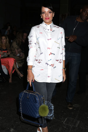 Lily Allen attending the House of Holland autumn/winter 2014 London Fashion Week s