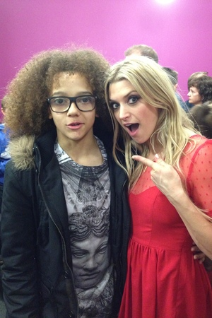 Splash! final and wrap party: Anna with winner Perri Kiely