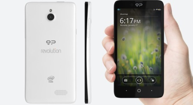 Geeksphone Revolution offers a choice between to OSs