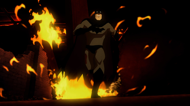 'Batman: Year One' animated still.