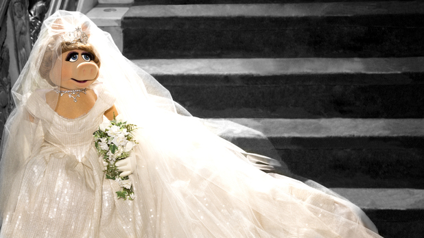 Miss Piggy's wedding dress designed by Vivienne Westwood