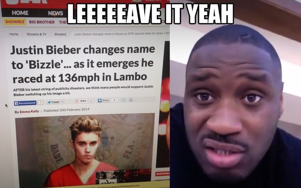 Lethal Bizzle to Justin Bieber: 'Avoid my name'