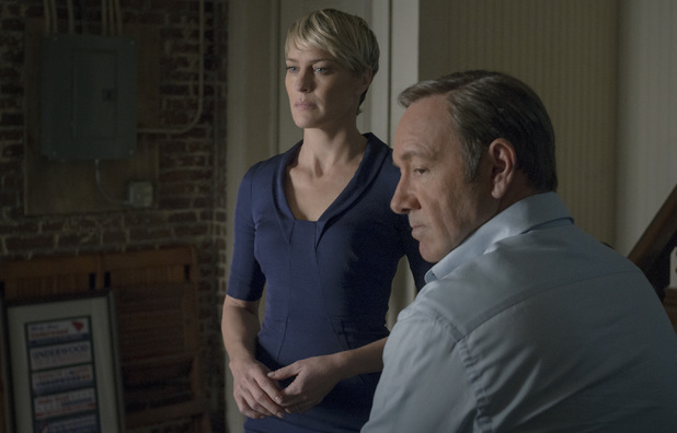 Robin Wright & Kevin Spacey in House of Cards season 2