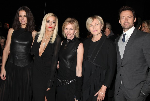 Donna Karan show, Autumn Winter 2014 Mercedes-Benz Fashion Week, New York, America - 10 Feb 2014 Katie Holmes, Rita Ora, Trudie Styler, Deborra-Lee Furness and Hugh Jackman