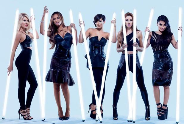 The Saturdays 'Not Giving Up' single artwork.