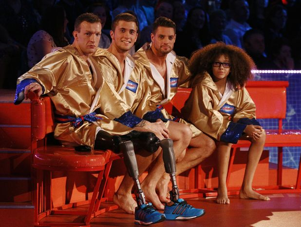 Richard Whitehead, Dan Osbourne, Keith Duffy and Perri Kiely.