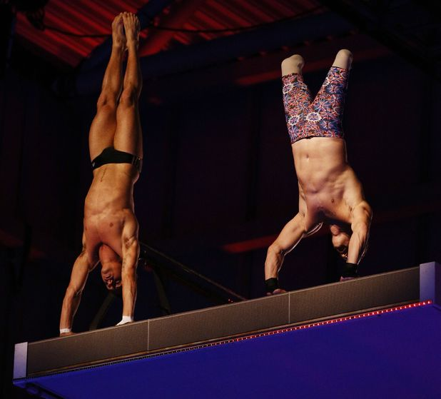 Richard Whitehead dives with Tom Daley