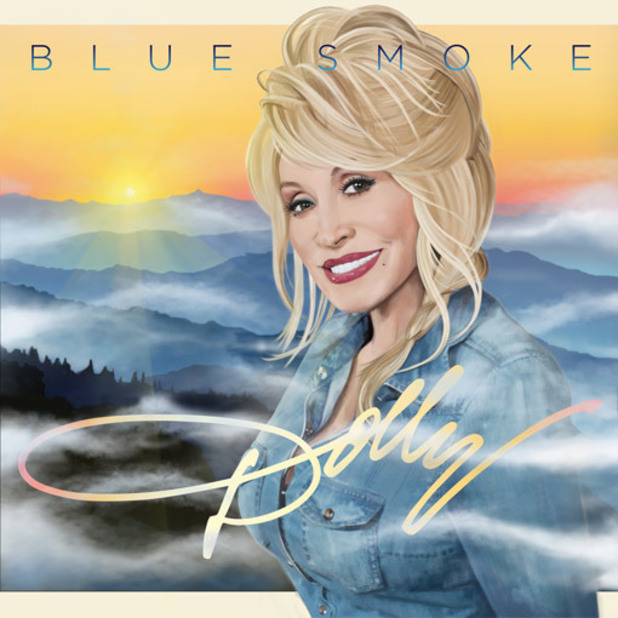 Dolly Parton 'Blue Smoke' album artwork.