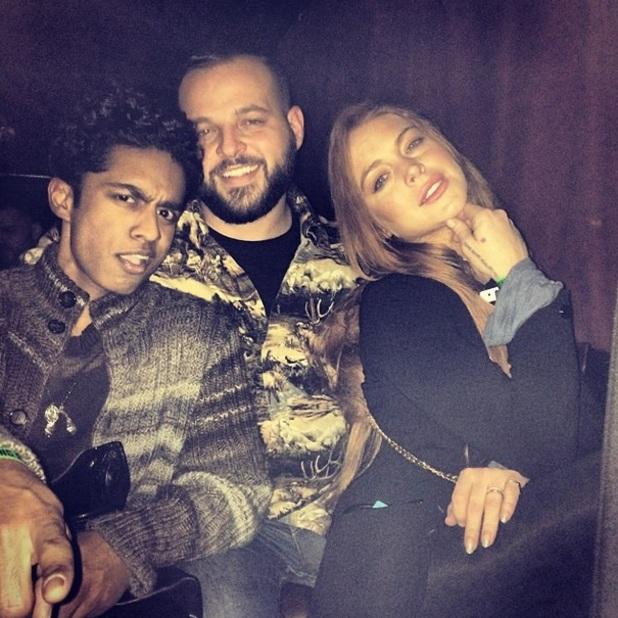 Lindsay Lohan reunites with Daniel Franzese and Rajiv Surendra