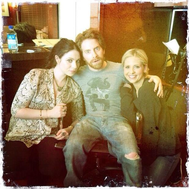 Sarah Michelle Gellar, Michelle Trachtenberg and Seth Green pictured together