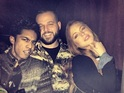 Lindsay Lohan shares a photo of herself with Daniel Franzese and Rajiv Surendra.