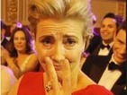 Stephen Fry pokes fun at close friend Emma Thompson at Sunday's show.