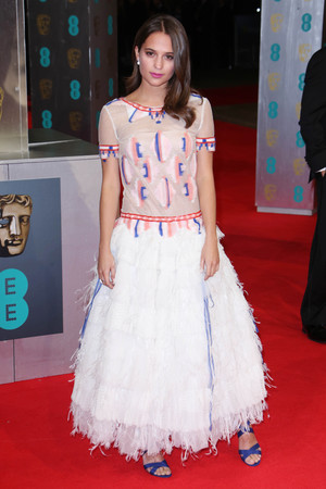 EE British Academy Film Awards, Arrivals, Royal Opera House, London, Britain - 16 Feb 2014 Alicia Vikander