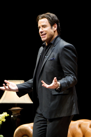 John Travolta live on stage in the West End for A Conversation With John Travolta