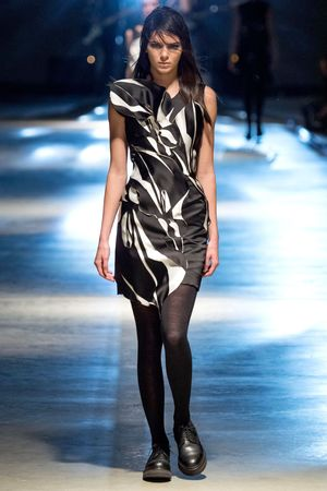 Giles Deacon show, Autumn Winter 2014, London Fashion Week, Britain - 17 Feb 2014 Kendall Jenner on the catwalk