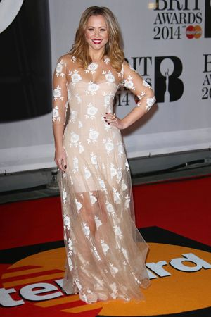 The Brit Awards, Arrivals, O2 Arena, London, Britain - 19 Feb 2014 Kimberley Walsh