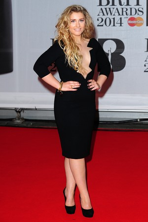 Ella Henderson arriving for the 2014 Brit Awards at the O2 Arena, London.