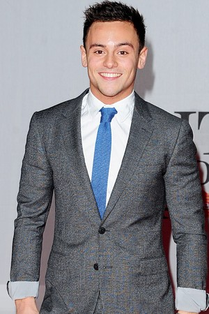 Tom Daley arriving for the 2014 Brit Awards at the O2 Arena, London.