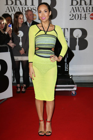 The Brit Awards, Arrivals, O2 Arena, London, Britain - 19 Feb 2014 Myleene Klass