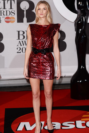 PhotographerREX/David FisherThe Brit Awards, Arrivals, O2 Arena, London, Britain - 19 Feb 2014 Rosie Huntington-Whiteley 19 Feb 2014