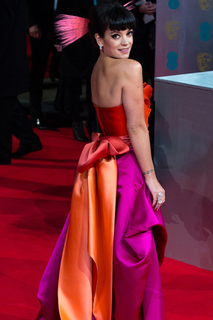 Lily Allen at the EE British Academy Film Awards