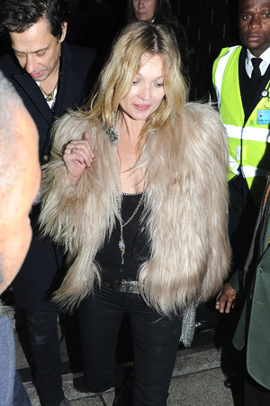 Kate Moss leaving Ronnie Scott's after watching Prince perform